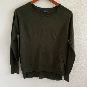 Zara Knit Forest Green Long Sleeve Sweater Top | M